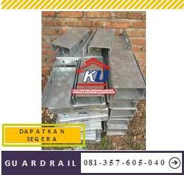 Jual Guardrail Pengaman Jalan Tebal 2,67mm Galvanis Hotdeep